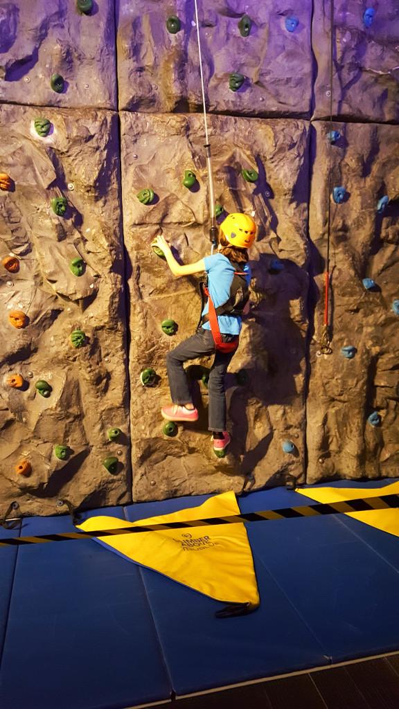 Nora rock climbing